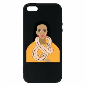 Etui na iPhone 5/5S/SE Dziewczyna z wężem