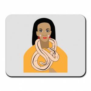 Podkładka pod mysz Dziewczyna z wężem - PrintSalon