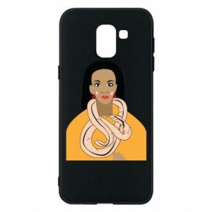 Etui na Samsung J6 Dziewczyna z wężem