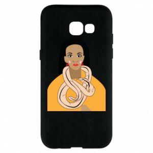 Etui na Samsung A5 2017 Dziewczyna z wężem