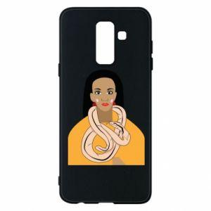 Etui na Samsung A6+ 2018 Dziewczyna z wężem