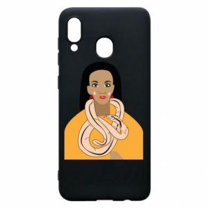 Etui na Samsung A20 Dziewczyna z wężem