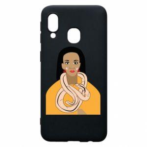 Etui na Samsung A40 Dziewczyna z wężem