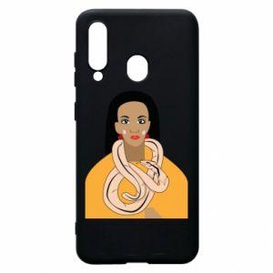 Etui na Samsung A60 Dziewczyna z wężem