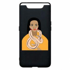 Etui na Samsung A80 Dziewczyna z wężem