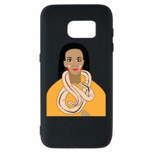Etui na Samsung S7 Dziewczyna z wężem