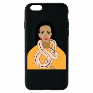 Etui na iPhone 6/6S Dziewczyna z wężem