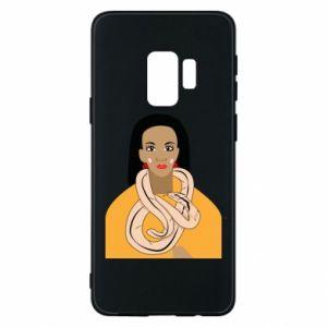 Etui na Samsung S9 Dziewczyna z wężem