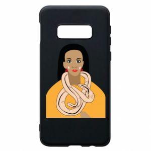 Etui na Samsung S10e Dziewczyna z wężem