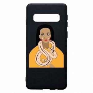 Etui na Samsung S10 Dziewczyna z wężem