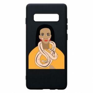 Etui na Samsung S10+ Dziewczyna z wężem