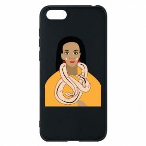 Etui na Huawei Y5 2018 Dziewczyna z wężem