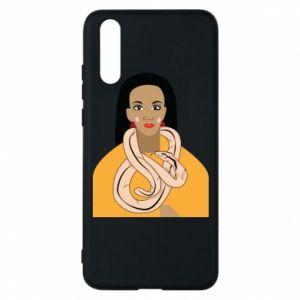 Etui na Huawei P20 Dziewczyna z wężem
