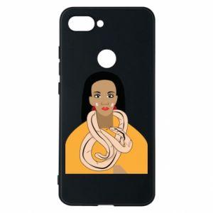 Etui na Xiaomi Mi8 Lite Dziewczyna z wężem