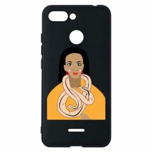 Etui na Xiaomi Redmi 6 Dziewczyna z wężem