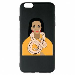 Etui na iPhone 6 Plus/6S Plus Dziewczyna z wężem