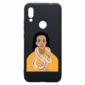 Etui na Xiaomi Redmi 7 Dziewczyna z wężem