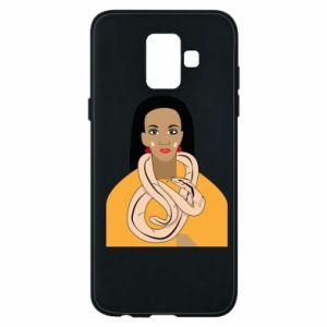 Etui na Samsung A6 2018 Dziewczyna z wężem