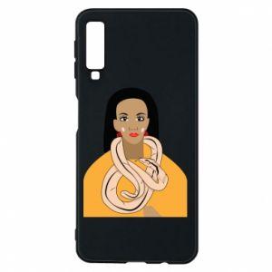 Etui na Samsung A7 2018 Dziewczyna z wężem