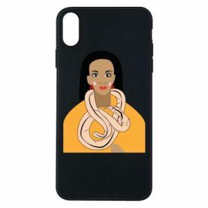 Etui na iPhone Xs Max Dziewczyna z wężem