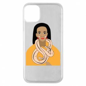 Etui na iPhone 11 Pro Dziewczyna z wężem