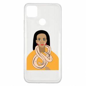 Etui na Xiaomi Redmi 9c Dziewczyna z wężem