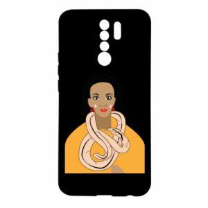 Etui na Xiaomi Redmi 9 Dziewczyna z wężem