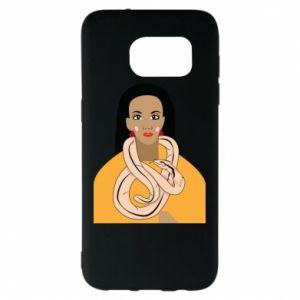 Etui na Samsung S7 EDGE Dziewczyna z wężem