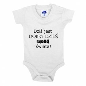 Baby bodysuit Today is a good day... - PrintSalon