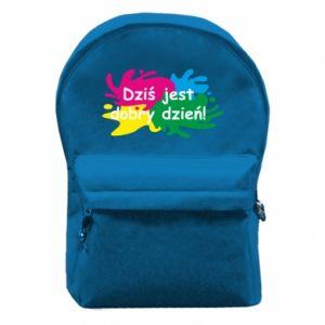 Plecak z przednią kieszenią Dziś jest dobry dzień!