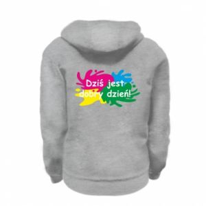 Kid's zipped hoodie % print% This is a good day!