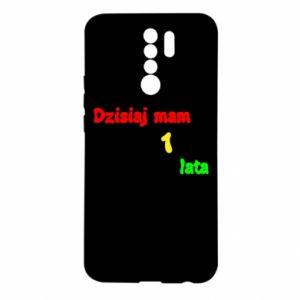 Etui na Xiaomi Redmi 9 Dzisiaj mam 1 rok, z myszką