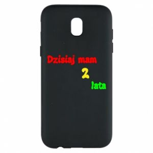 Phone case for Samsung J5 2017 I'm two years old today
