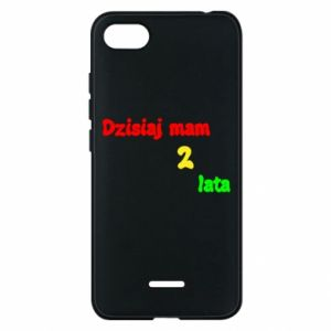 Phone case for Xiaomi Redmi 6A I'm two years old today