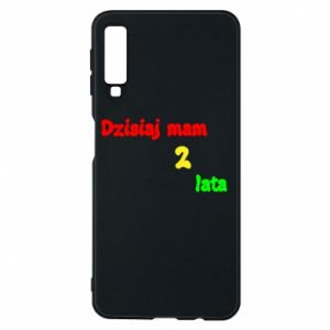 Phone case for Samsung A7 2018 I'm two years old today