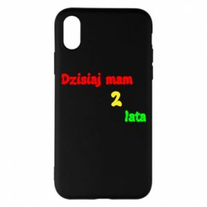 Phone case for iPhone X/Xs I'm two years old today