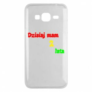 Phone case for Samsung J3 2016 I'm two years old today