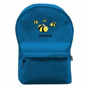 Plecak z przednią kieszenią Dziwne pszczoły