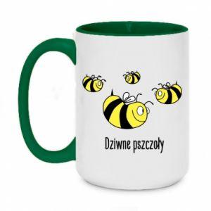 Kubek dwukolorowy 450ml Dziwne pszczoły