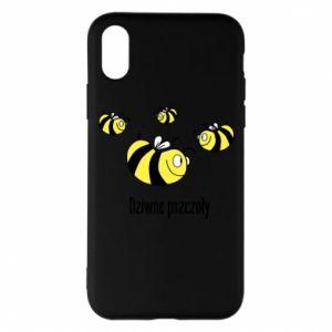 Etui na iPhone X/Xs Dziwne pszczoły