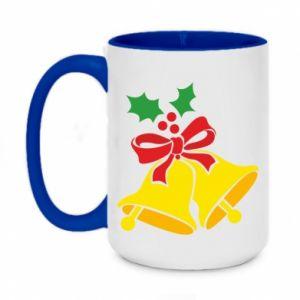 Two-toned mug 450ml Christmas bells