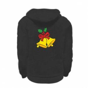 Kid's zipped hoodie % print% Christmas bells