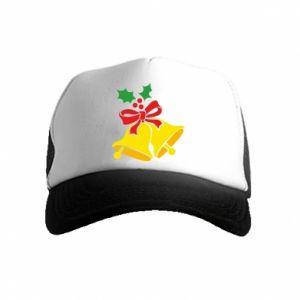 Kid's Trucker Hat Christmas bells