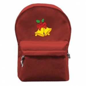 Backpack with front pocket Christmas bells