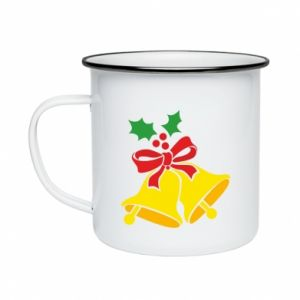 Enameled mug Christmas bells