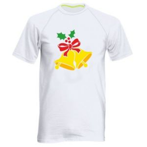 Men's sports t-shirt Christmas bells