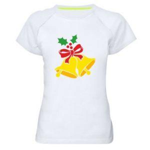 Women's sports t-shirt Christmas bells