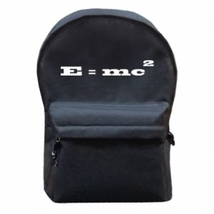 Backpack with front pocket E = mc2