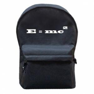 Plecak z przednią kieszenią E = mc2