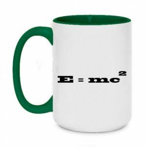 Kubek dwukolorowy 450ml E = mc2